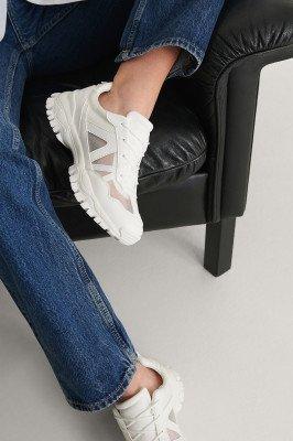 NA-KD Shoes NA-KD Shoes Doorschijnende Mesh-Sneakers - White