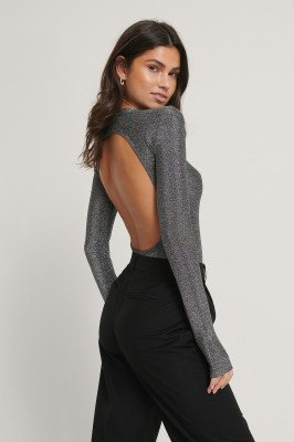 NA-KD Party NA-KD Party Body Met Hoge Hals - Grey
