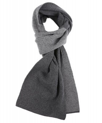 Profuomo Profuomo heren grijs knitted sjaal