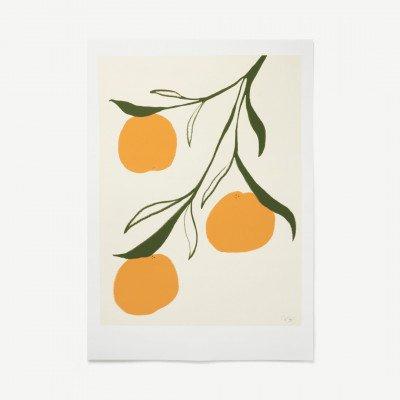 MADE.COM Orange door Anna Moerner, print, 50 x 70 cm