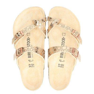 Birkenstock Birkenstock Mayari metallic ston slippers