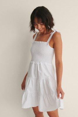 Trendyol Trendyol Mini-Jurk Met Knoopdetail - White