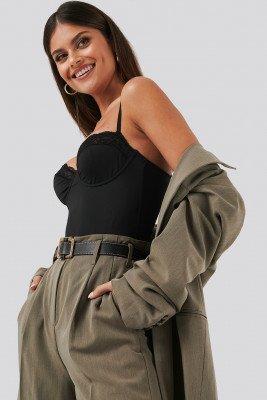 NA-KD Lingerie NA-KD Lingerie Micro Lace Bodysuit - Black