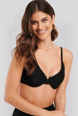 NA-KD Swimwear Structured Bikini Cup Bra - Black