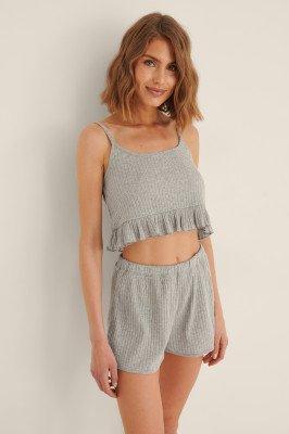 Trendyol Trendyol Geribbelde Pyjamaset - Grey