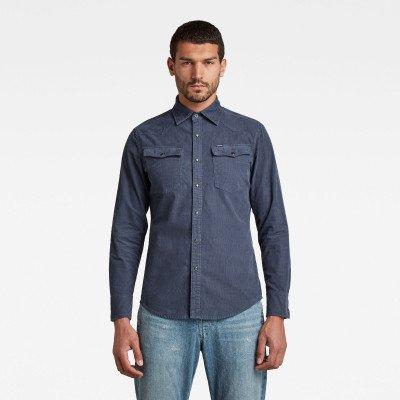 G-Star RAW 3301 Slim Overhemd - Donkerblauw - Heren