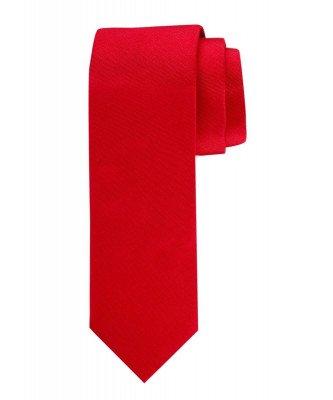 Profuomo Profuomo heren rode oxford zijden stropdas