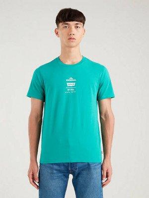 Levi's Original Housemark T shirt - Blauw / Never Imitated