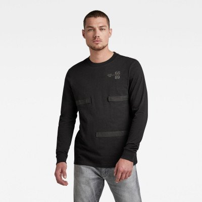 G-Star RAW Tape Detail T-Shirt - Zwart - Heren