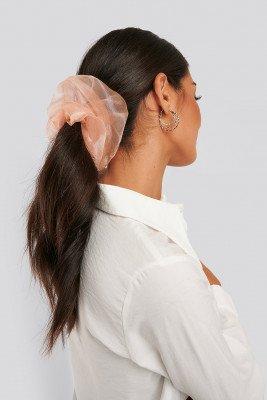 NA-KD Accessories Organza Scrunchie - Pink