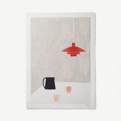 MADE.COM Orange Pendant door Ana Frois, print, 50 x 70 cm