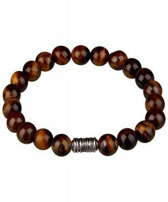 Profuomo Profuomo heren bruine tijgeroog armband