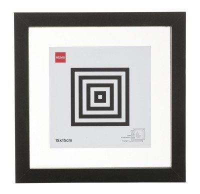 HEMA Fotolijst Hout 15x15 - Zwart - Magnetisch