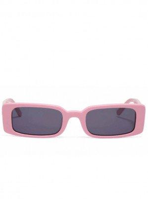 Hot Futures Hot Futures unisex vegan Zonnebril Wild Child - Baby Pink   Smoke Lens Roze ONE SIZE