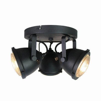 LABEL51 LABEL51 LED Spot 'Moto' 3-lichts, kleur zwart