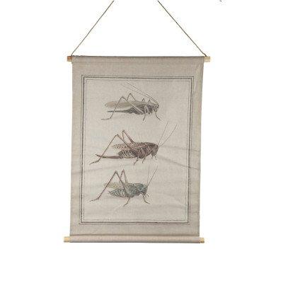 Firawonen.nl Botanical cream cotton insect painting