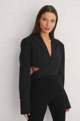 NA-KD Trend NA-KD Trend Blazer Met Omslag - Black