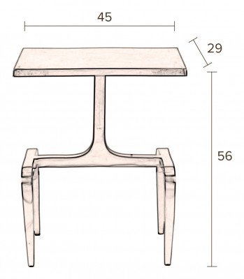 Dutchbone Dutchbone Bijzettafel 'Hips' 45 x 29cm