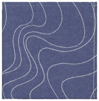HEMA Theedoek - 65 X 65 - Katoen - Blauw Golven