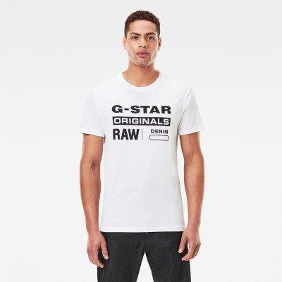 G-Star RAW Raw. Graphic Slim T-Shirt - Wit - Heren