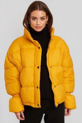 NA-KD Trend NA-KD Trend Elastic Detail Puffer Jacket - Yellow