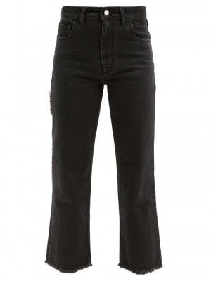 Matchesfashion Raf Simons - Zipped-pocket Cropped Jeans - Womens - Black