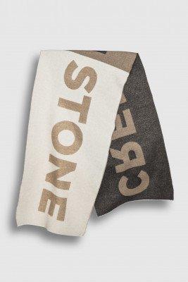 Creenstone Creenstone Creenstone logo scarf - Milky Cocoa