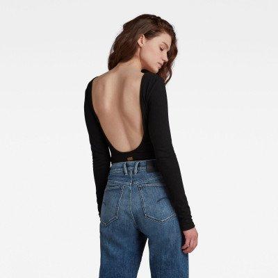 G-Star RAW Low Back Bodytop - Zwart - Dames