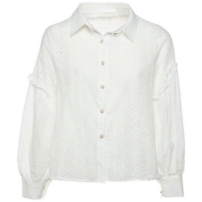 ComegetFashion WITTE BLOUSE BRODERIE