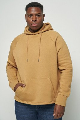 nu+in 100% Recycled Curve Hem Hoodie / 3XL / BurlyWood