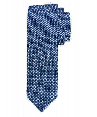 Profuomo Profuomo heren navy faux-uni zijden stropdas