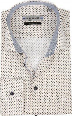 Ledub Ledub Overhemd Patroon Geel