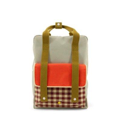 Sticky Lemon Sticky Lemon Large Backpack Gingham Pool Green + Apple Red + Leaf Green