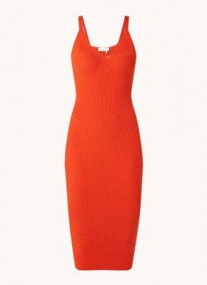 Remain Remain Gunilla ribgebreide mini jurk met stretch