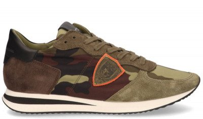 Philippe Model Philippe Model Tropez X Camouflage Groen Herensneakers