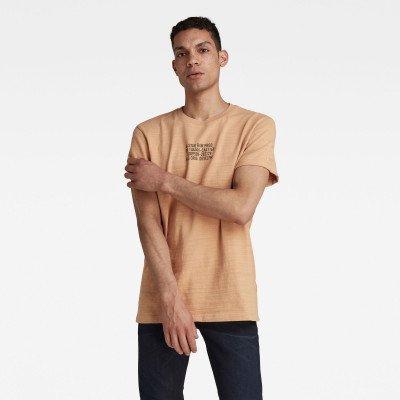 G-Star RAW Chest Text Graphic T-Shirt - Roze - Heren