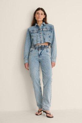 Jasmin Azizam x NA-KD Jasmin Azizam x NA-KD Organische Spijkerbroek Met Een Taille-detail - Blue