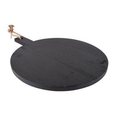 Xenos Serveerplateau rond - zwart - 50x40x2 cm