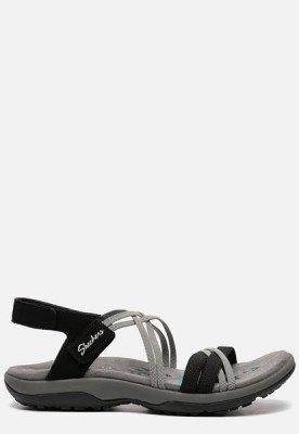Skechers Skechers Reggae Slim Takes Two sandalen zwart