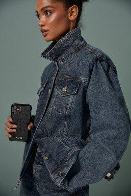 NA-KD Accessories NA-KD Accessories Croc Phone Case - Black