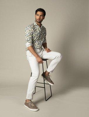 Cavallaro Napoli Cavallaro Napoli Heren Overhemd - Flio Overhemd - Groen