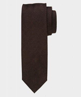 Michaelis Michaelis heren zijden stropdas bruin