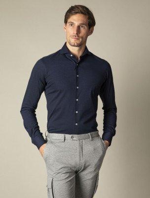 Cavallaro Napoli Cavallaro Napoli Heren Overhemd - Savio Overhemd - Donkerblauw