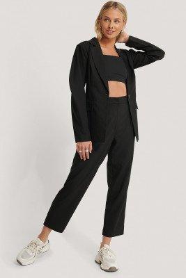 NA-KD Classic Oversized Suit Pants - Black