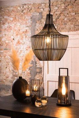 Light en Living Light & Living Hanglamp 'Stella' Ø47cm, kleur Mat Zwart