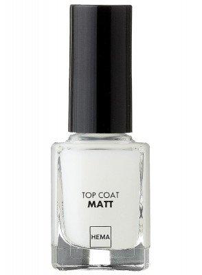 HEMA Top Coat Nailpolish Matt (transparant)