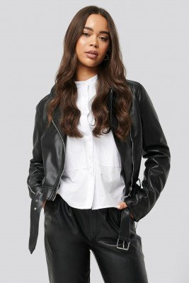 NA-KD Biker PU Jacket - Black
