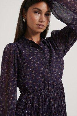 NA-KD NA-KD Geplooide Shirtjurk - Purple