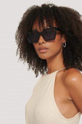 Corlin Eyewear Corlin Eyewear Zonnebril Met Vierkant Frame - Black