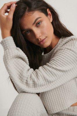 Jasmin Azizam x NA-KD Cropped Trui - Grey